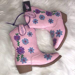 Blazin Roxx Pink Flowers Floral Cowgirl Boots NWT